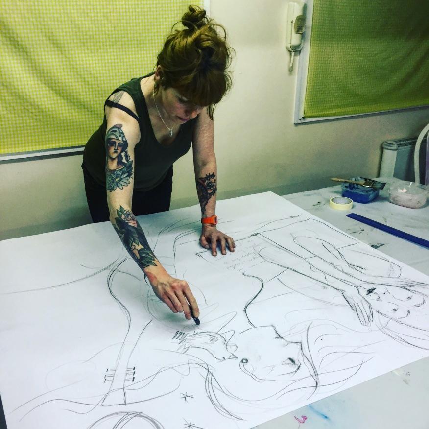 Prepatory sketches
